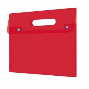 Папка-конверт на кнопке КРАСНАЯ PP 180мкм 32х28 см/48224