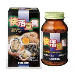 Orihiro Экстракт устриц, мидий, куркумы и чеснока (180 капсул на 60 дней)