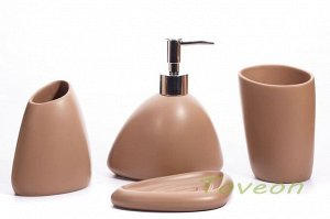 Набор аксессуаров для ванной комнаты из искусственного камня (акрил), АВ-1010