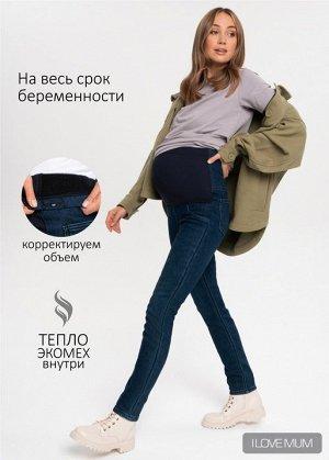 """Джинсы утепл. """"Стайл 070"""" для беременных; темный деним"""