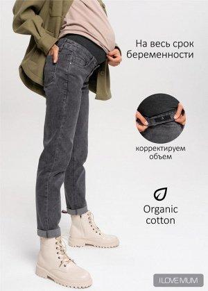 """Джинсы """"Стайл 043"""" для беременных; цвет: антрацит"""