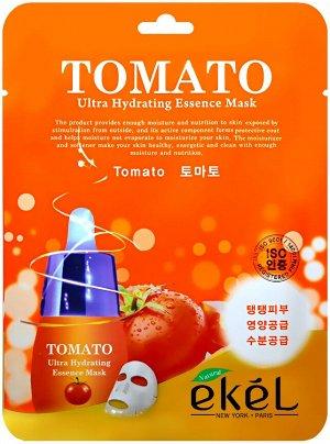 EKEL Tomato Ultra Hydrating Essense Mask Тканевая маска с экстрактом томата 25 ml