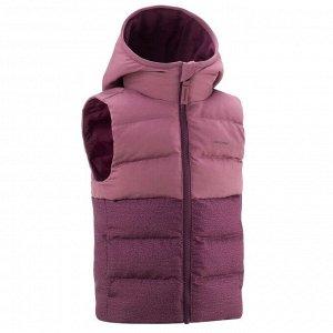 Пуховик без рукавов походный для детей 2-6 лет фиолетовый QUECHUA