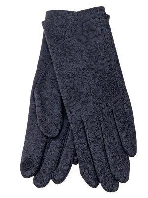 Женские перчатки из велюра, цвет серый