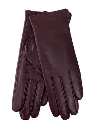 Женские перчатки из натуральной кожи, цвет бордовый