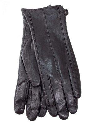 Женские перчатки из натуральной кожи, цвет шоколад