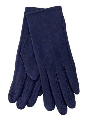 Женские перчатки из велюра, цвет синий