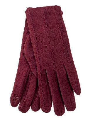Велюровые демисезонные перчатки, цвет красный