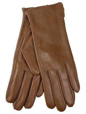 Женские перчатки из натуральной кожи, цвет рыжий
