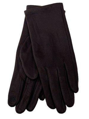 Женские перчатки из велюра, цвет коричневый