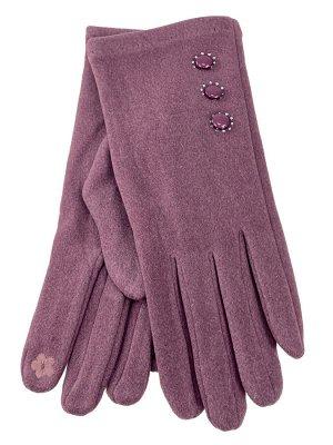 Велюровые демисезонные перчатки, цвет малиновый