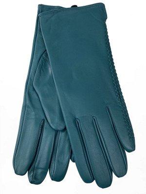 Женские перчатки из натуральной кожи, цвет бирюза