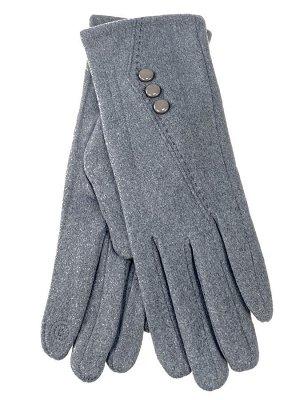 Велюровые демисезонные перчатки, цвет серый