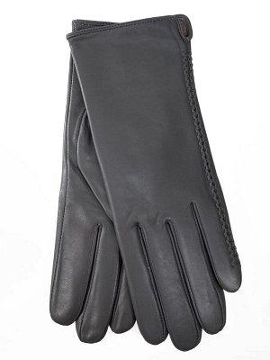 Женские перчатки из натуральной кожи, цвет серебро