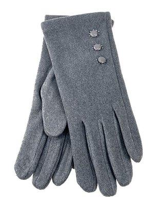 Велюровые демисезонные перчатки, цвет светло серый