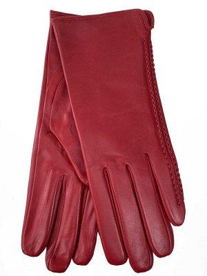Женские перчатки из натуральной кожи, цвет красный