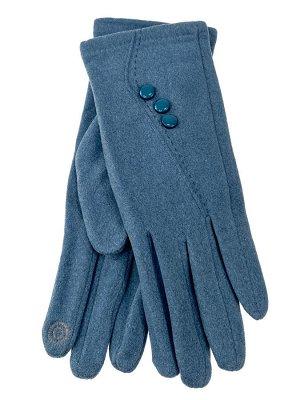 Велюровые демисезонные перчатки, цвет бирюза