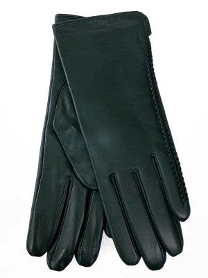 Женские перчатки из натуральной кожи, цвет зеленый