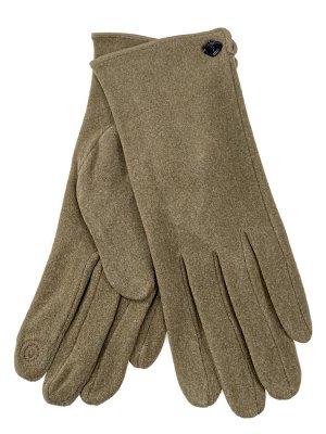 Велюровые демисезонные перчатки, цвет бежевый