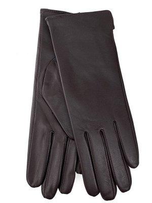 Женские перчатки из натуральной кожи, цвет коричневый