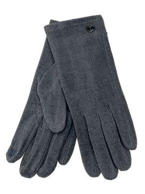 Велюровые демисезонные перчатки, цвет темно-серый