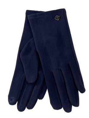 Велюровые демисезонные перчатки, цвет синий