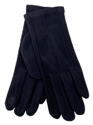 Велюровые демисезонные перчатки, цвет черный