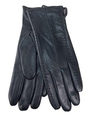 Женские перчатки из натуральной кожи, цвет черный