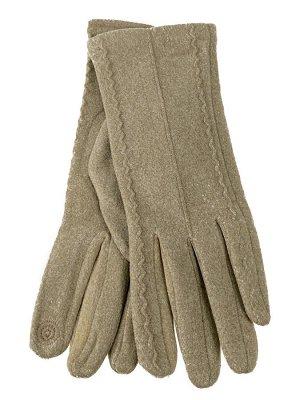 Велюровые демисезонные перчатки, цвет пшеничный