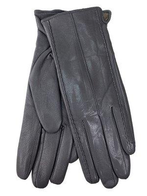 Женские перчатки из натуральной кожи, цвет серый