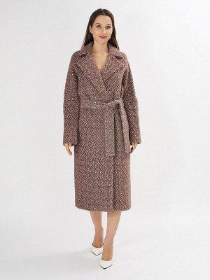 Пальто демисезонное темно-коричневого цвета 4002TK
