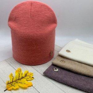 Шапка Женская шапка-бини с декором - классическая шапка чулок из шерсти для всех, кто устал от лаконичных аксессуаров и успел соскучиться по сверкающему декору, мягким драпировкам и пушистому ореолу н