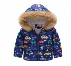 Куртка с капюшоном и принтом