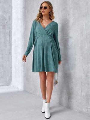 Для беременных Платье с v-образным вырезом