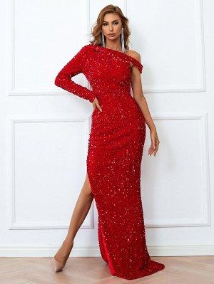 Missord Асимметричное платье с блестками