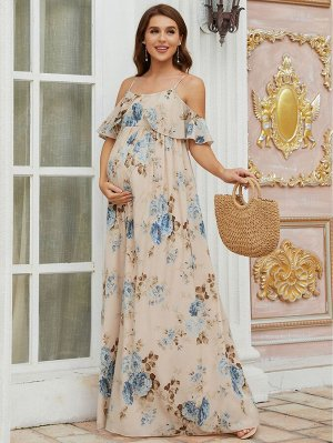 EVER-PRETTY Шифоновое платье для беременных с цветочным принтом