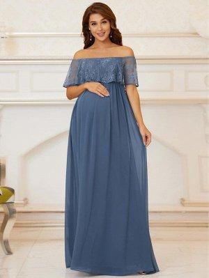 EVER-PRETTY для беременных Платье с открытыми плечами кружевной из шифона