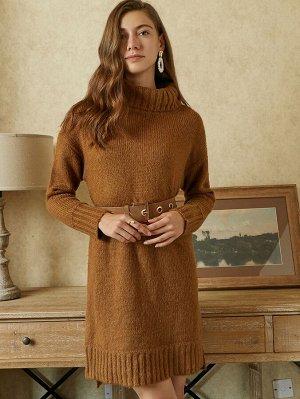 MOTF PREMIUM Платье-свитер & мохер без пояса