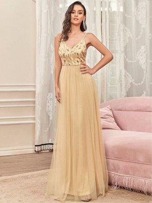 EVER-PRETTY Сетчатое платье  с блестками