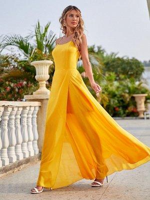 Платье на бретельках