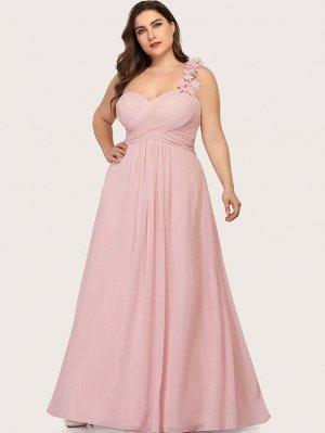 EVER-PRETTY Платье на одно плечо со складками размера плюс