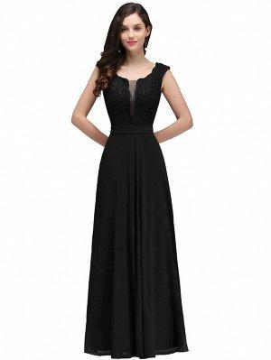 Вечернее платье с кружевом и сетчатой вставкой