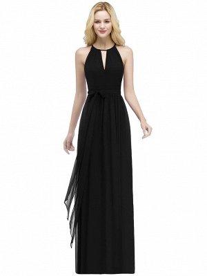 Шифоновое платье для выпускного с узлом