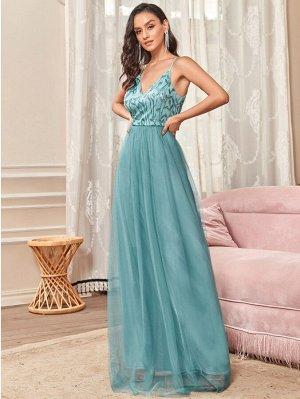 EVER-PRETTY Сетчатое платье для  с блестками