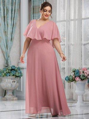 Шифоновое платье макси  размера плюс