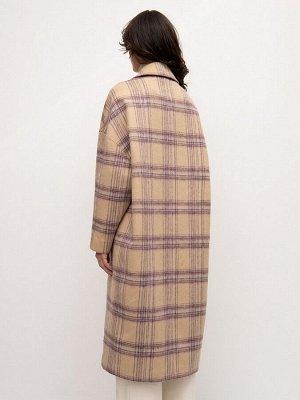 Пальто в клетку R091/milly