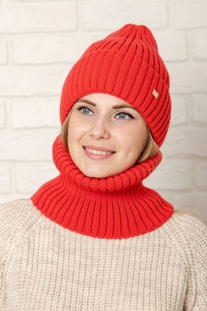 Комплект Комплект( шапка , снуд); ; подклад флис  -  50% шерсть - 50% акрил.