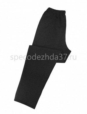 Брюки мужские с начёсом цв.чёрный тк.футер 2-х нитка