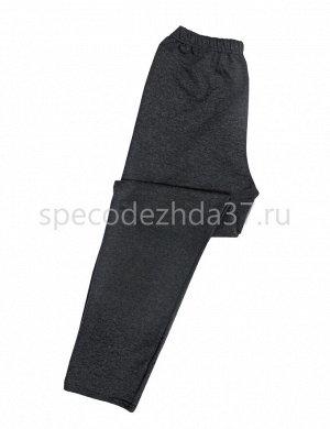 Брюки мужские цв.серый тк.футер петельный