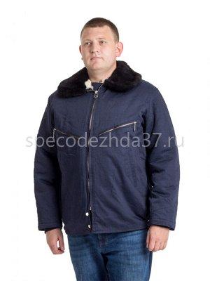 """Куртка рабочая """"Лётчик"""" цв.тёмно-синий тк.смесовая"""
